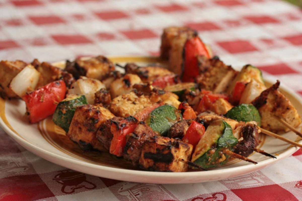 Tofu-vegetable-kebabs