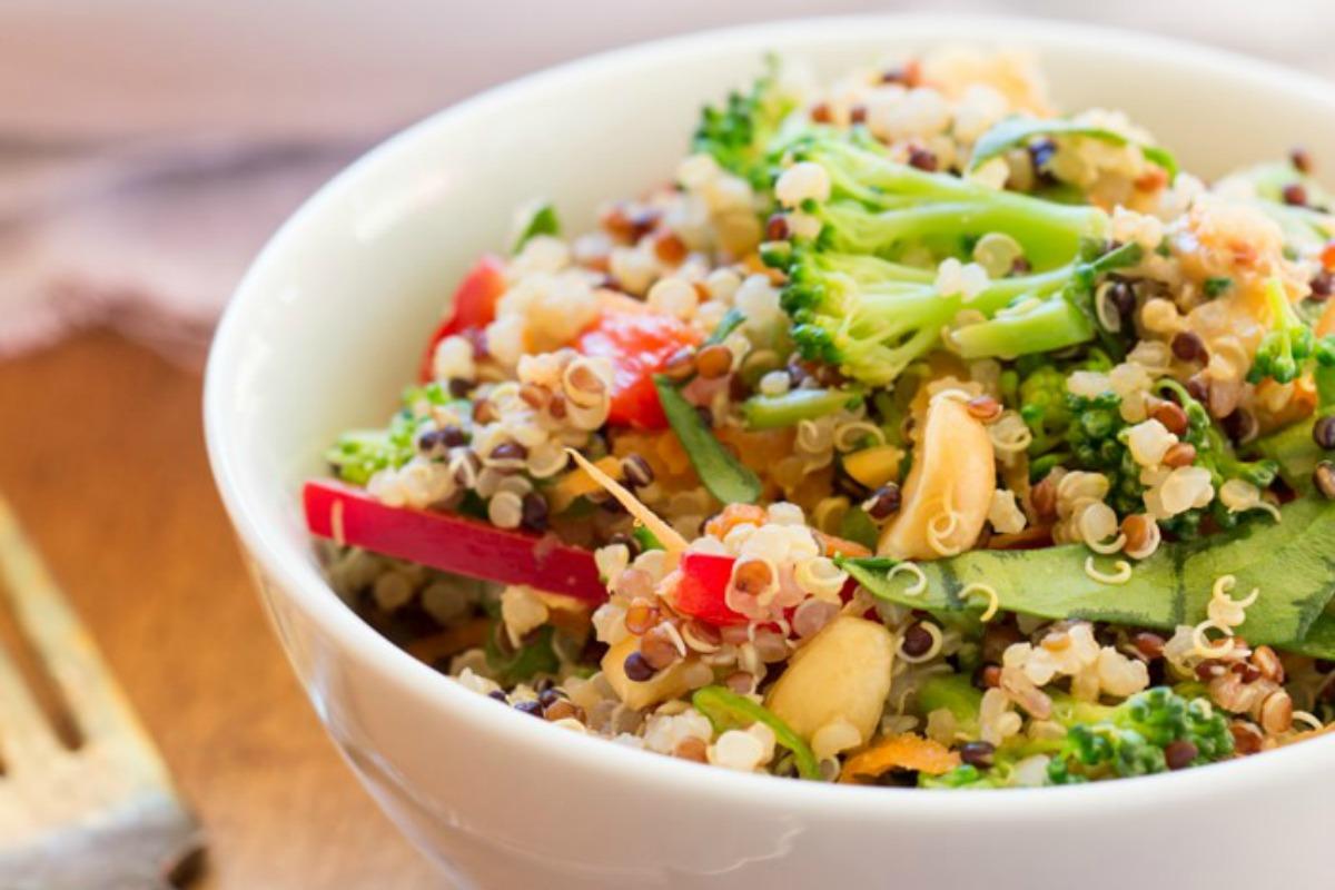 Thai Peanut Quinoa Salad [Vegan, Gluten-Free]