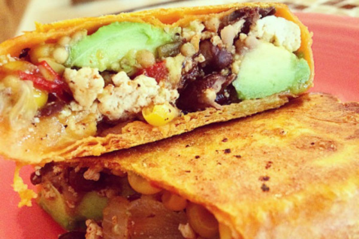 Vegan Cajun Breakfast Burrito