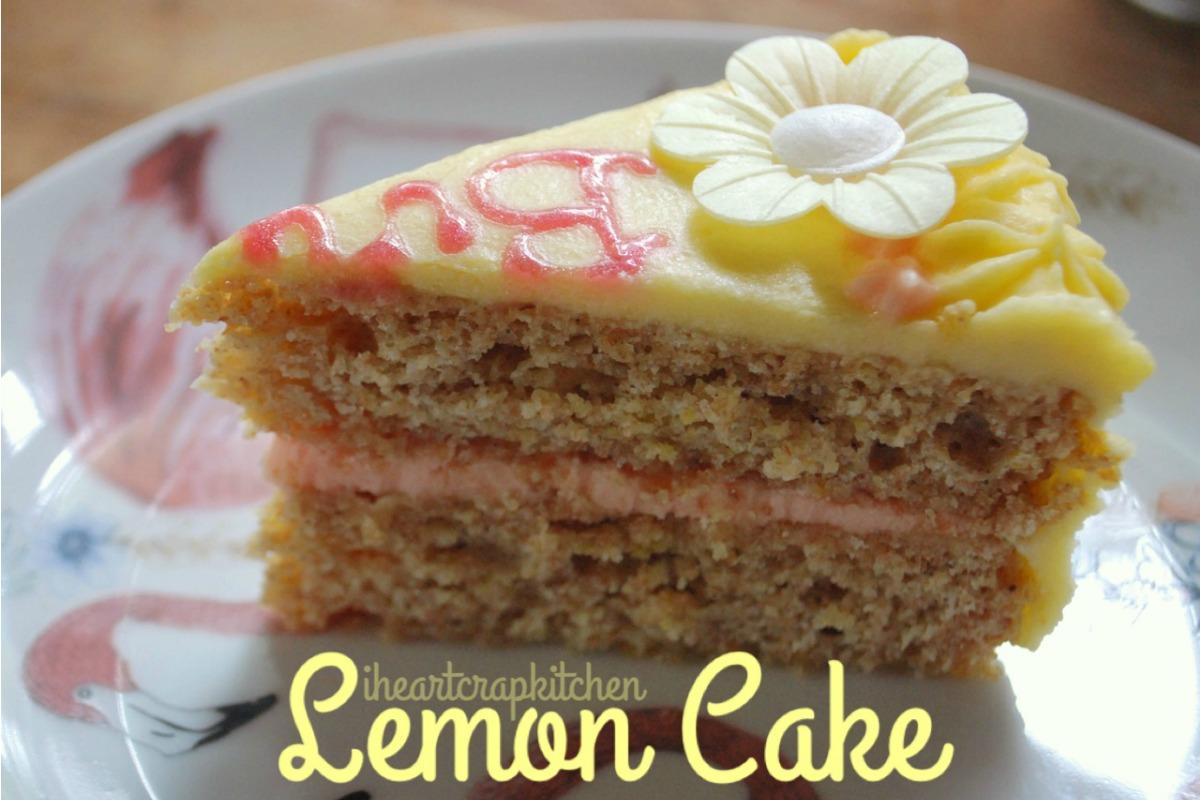 Stealthy Lemon Birthday Cake [Vegan]