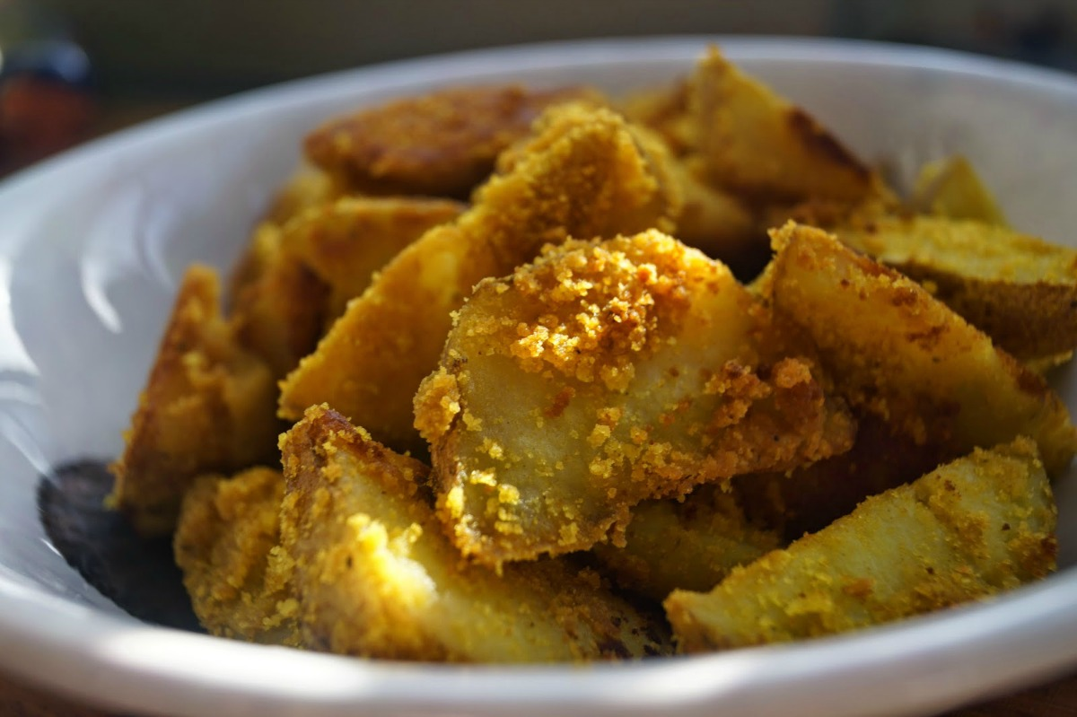 Coconut and Turmeric Roast Potatoes [Vegan, Gluten-Free]