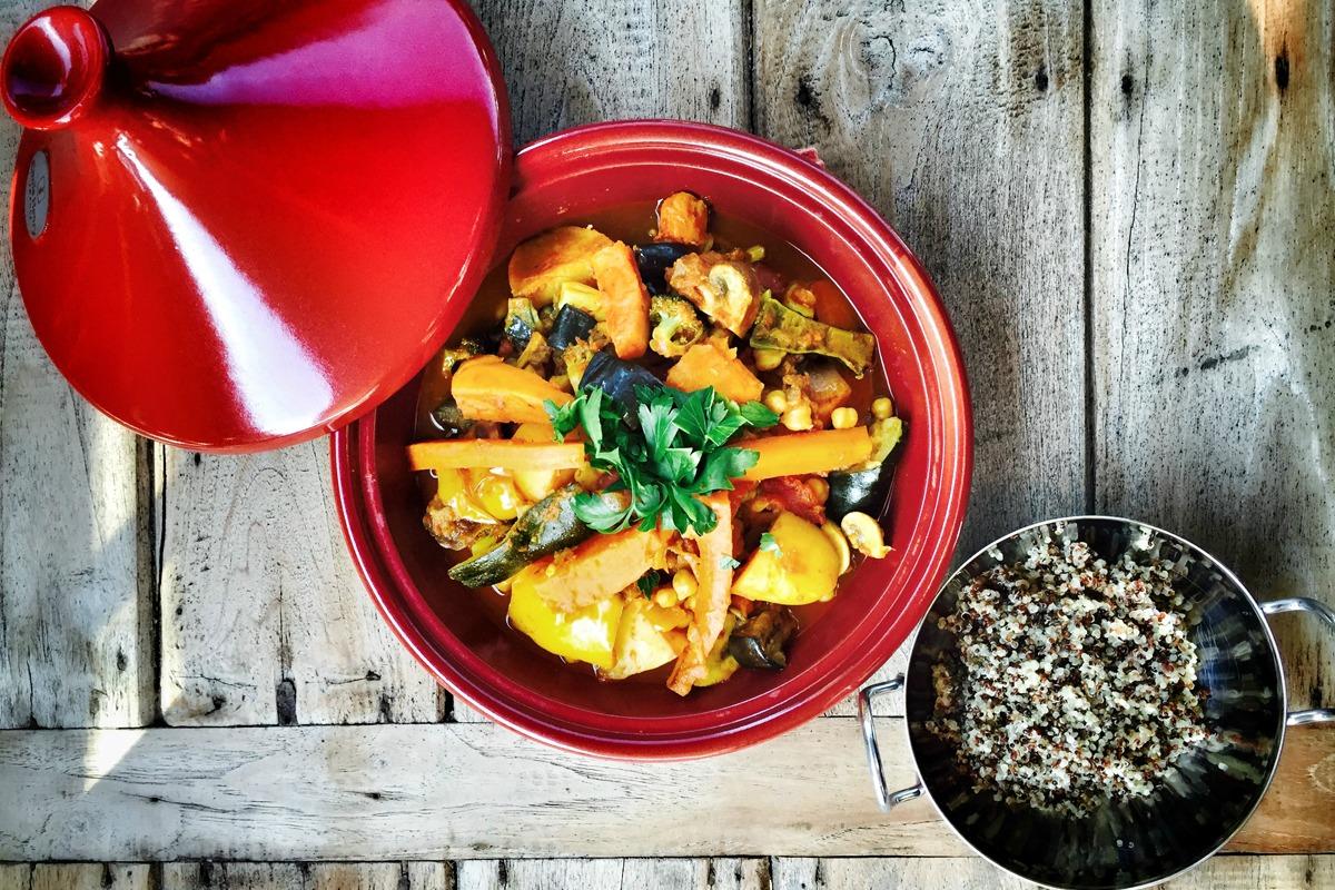Delicious Roasted Veggie Moroccan Tagine [Vegan, Gluten-Free]