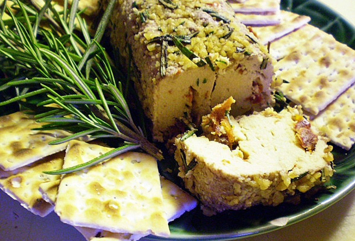Herb-and-Nut-Encrusted Cheese Log