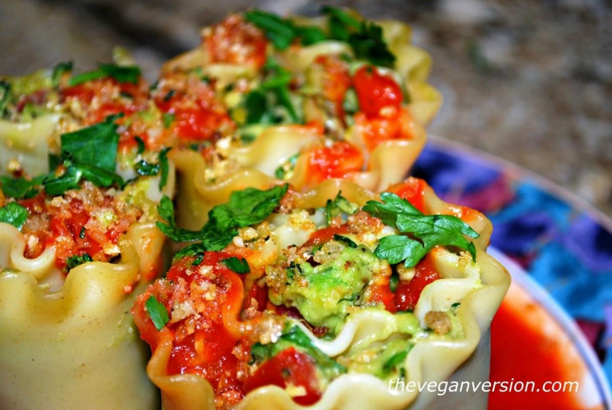 Avocatta Lasagna Rolls [Vegan]