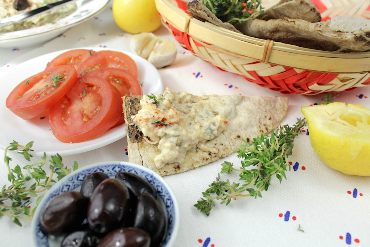 Lemon and Thyme Baba Ghanoush [Vegan, Gluten-Free]