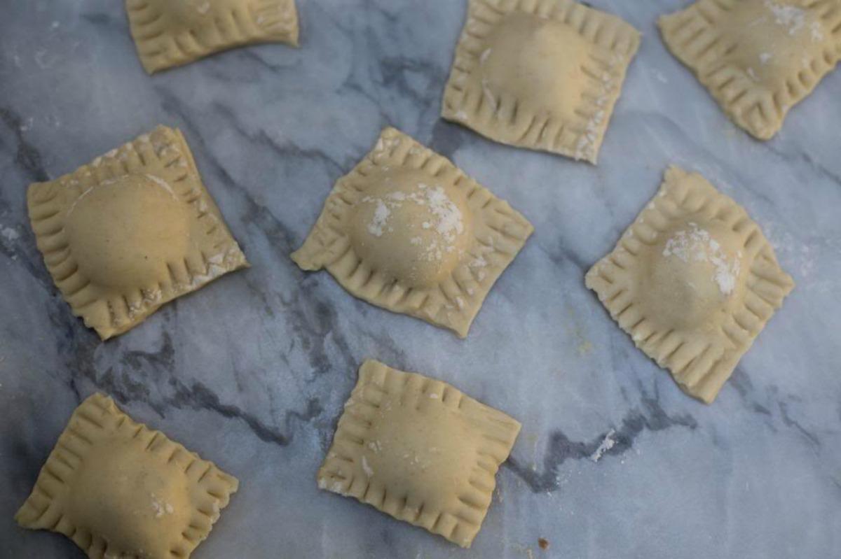 Creamy, Cheesy Homemade Ravioli [Vegan]