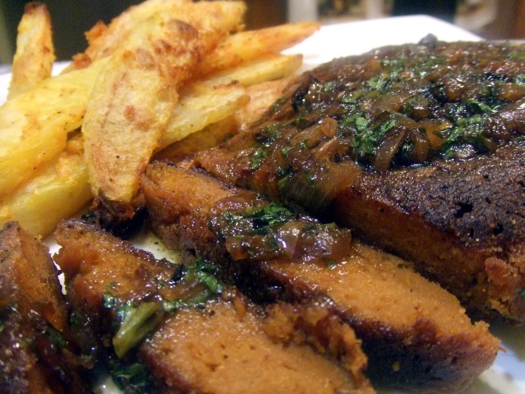 Seitan Steak in Beurre Blanc Sauce
