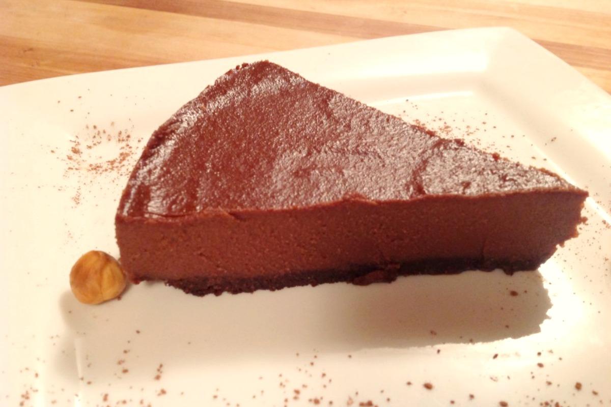 Chocolate Hazelnut Cheesecake [Vegan, Raw, Gluten-Free]