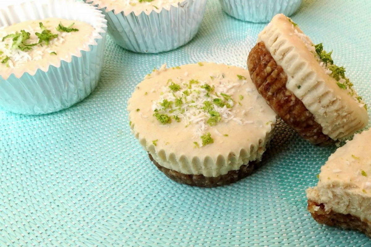 Key Lime Coconut Cheesecake Cups [Vegan, Raw, Gluten-Free]