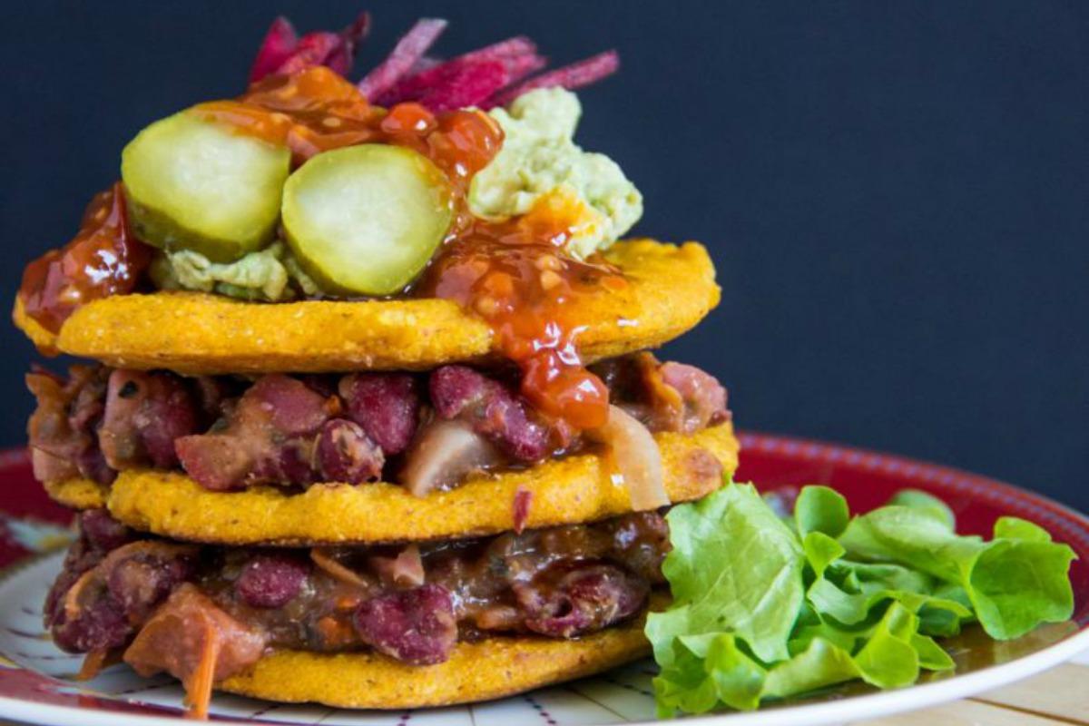 Taco Cornmeal Pancakes [Vegan, Gluten-Free]