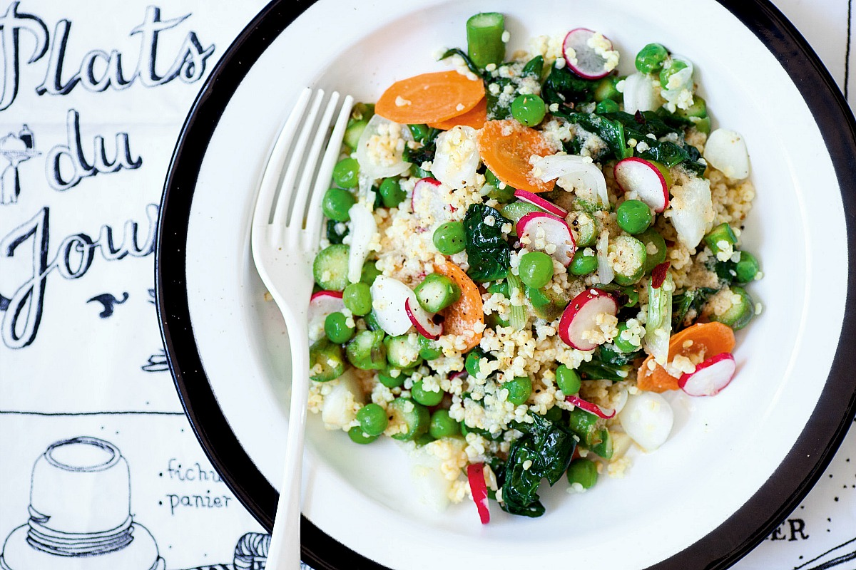 Magnifique Millet With Spring Vegetables [Vegan]