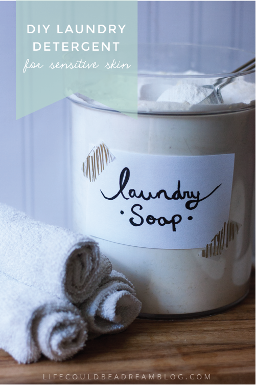 DIY Laundry Detergent For Sensitive Skin
