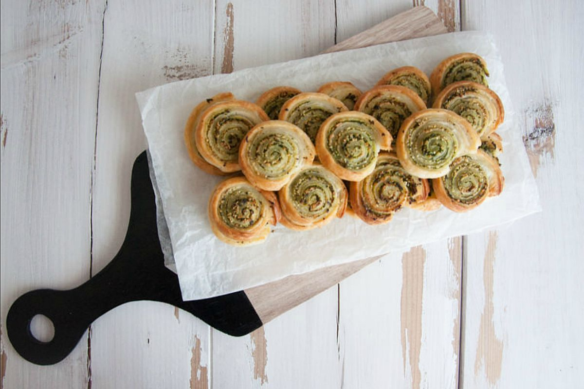 Wild Garlic Pesto Snails [Vegan]