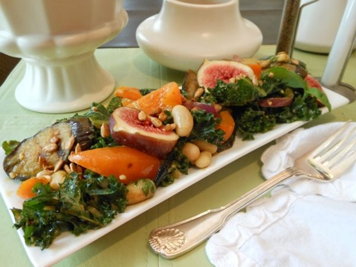 Kale-Salad-with-Grilled-Eggplant-White-Beans-and-Fresh-Figs