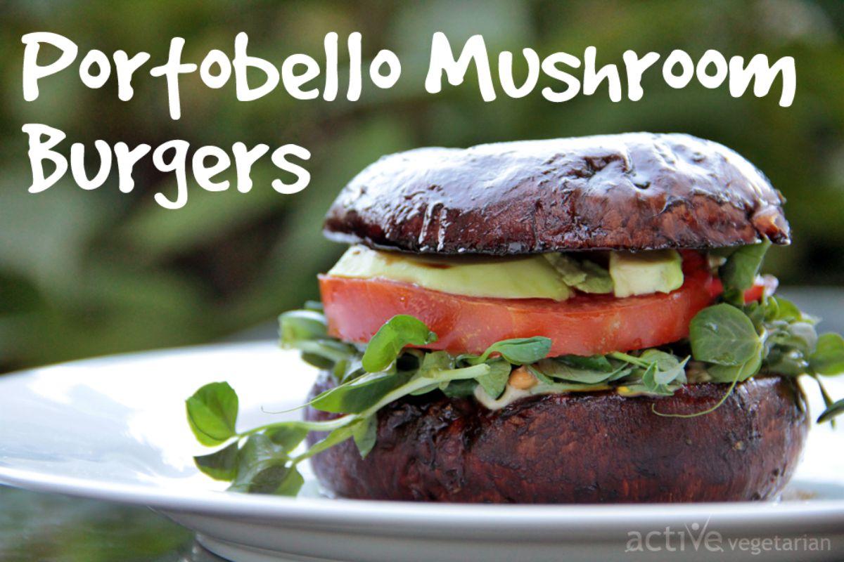 Portobello Mushroom Burgers [Vegan, Gluten-Free]