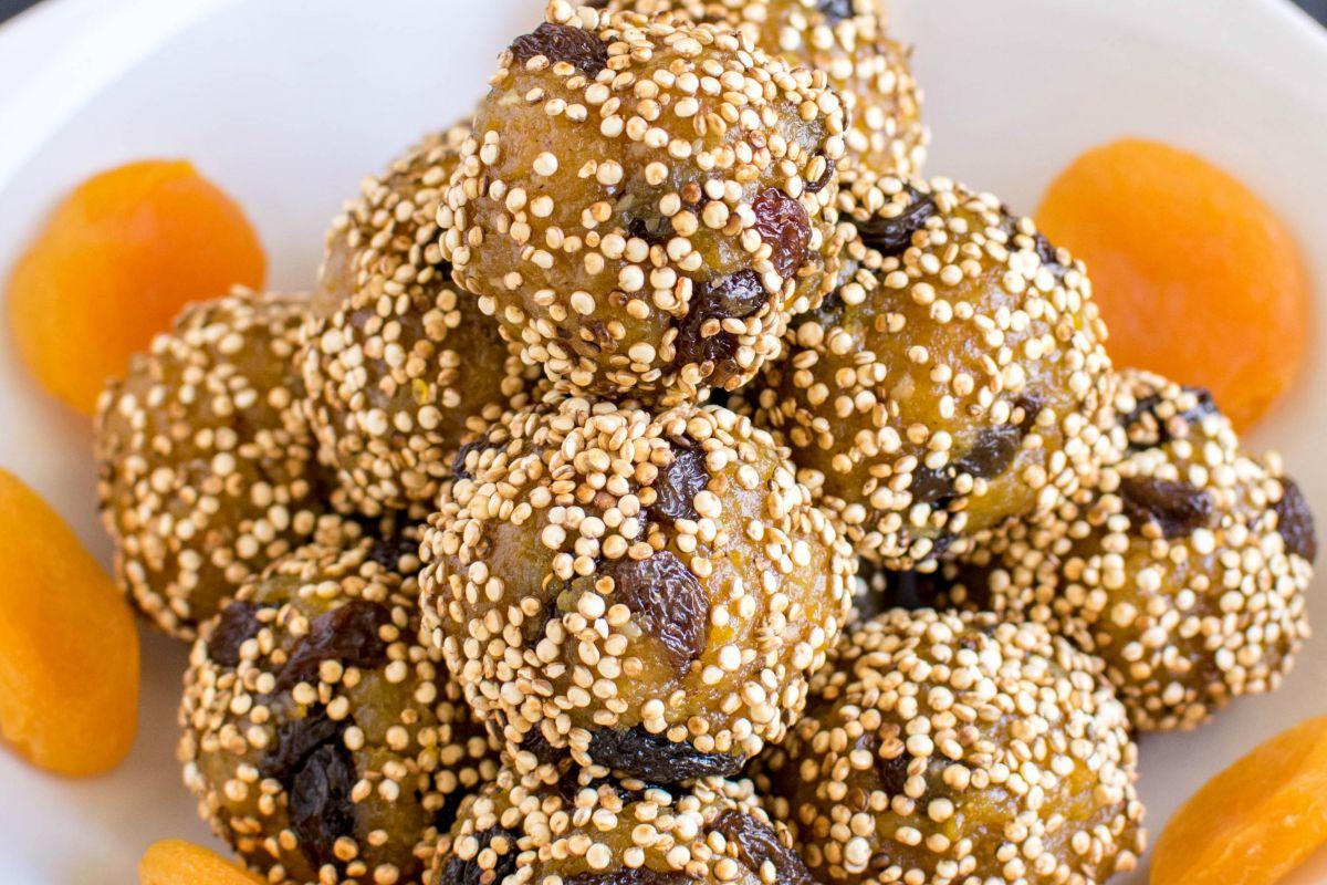 No Bake Apricot Quinoa Bites [Vegan, Gluten-Free]