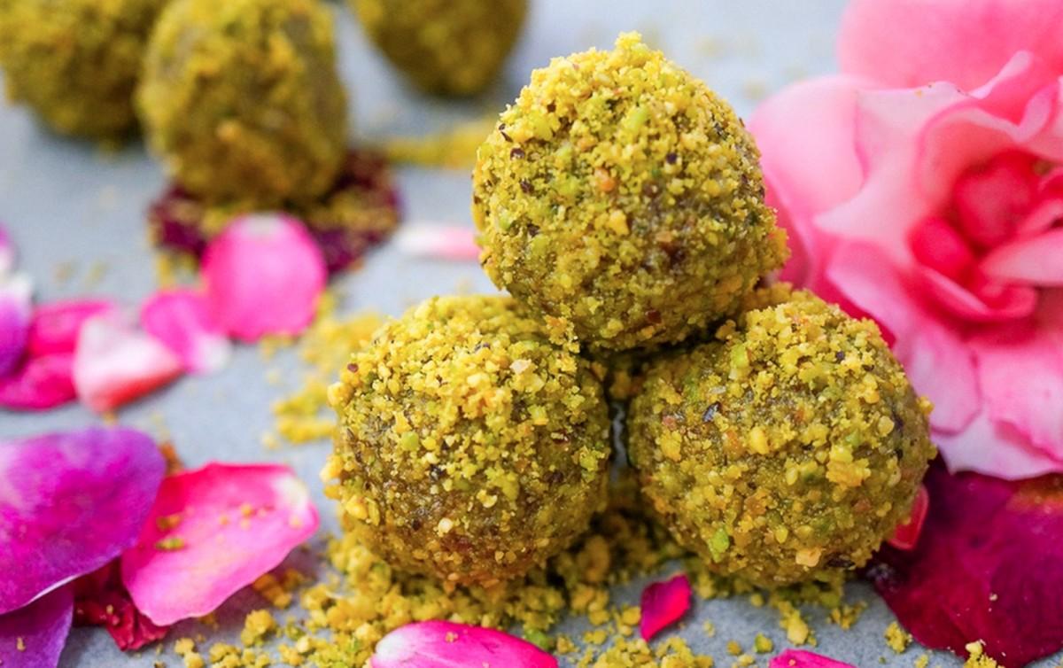 Cardamom Pistachio Rose Energy Bites [Vegan, Raw, Gluten-Free]