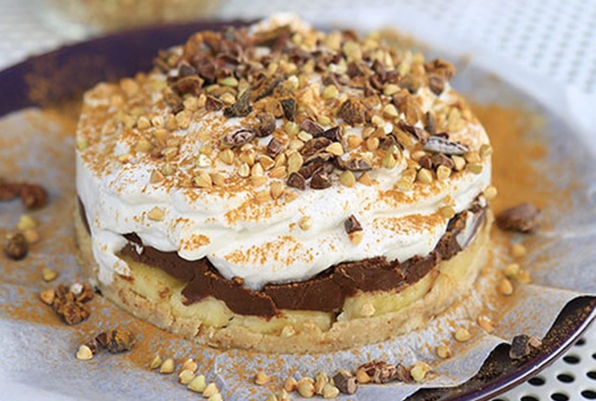No-Bake Chocolate Banana Cream Cake [Vegan, Gluten-Free]