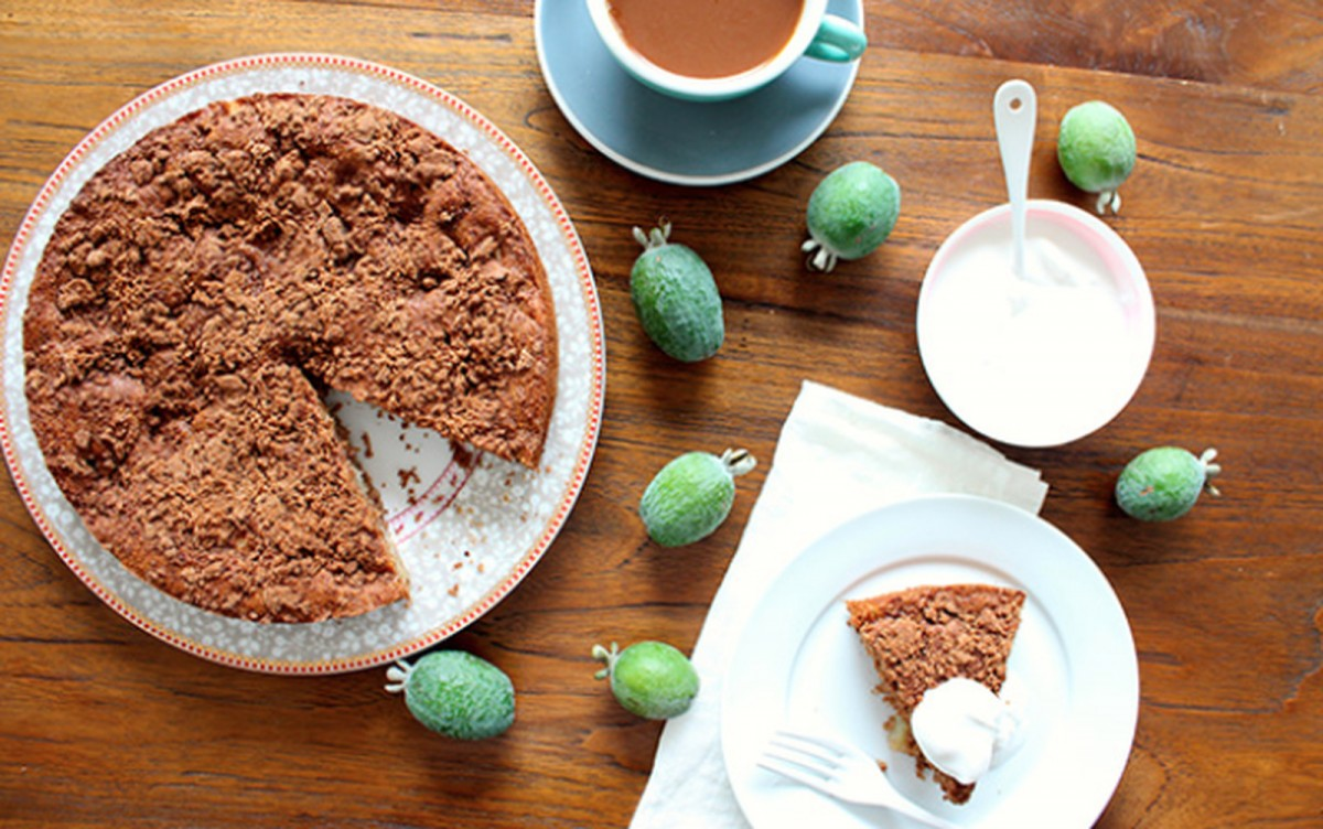 Apple, Ginger, and Fejoa Cake [Vegan]