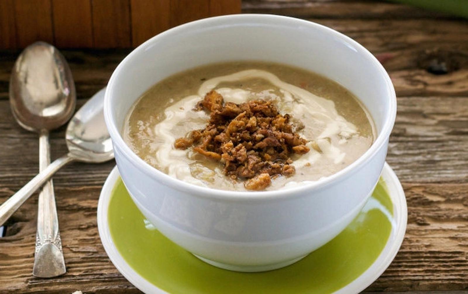 'Stuffed' Artichoke Soup in the Slow Cooker [Vegan, Gluten-Free]