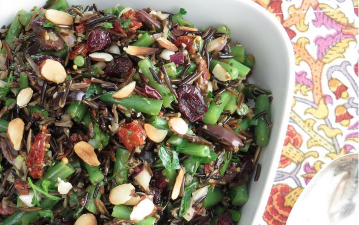 Green Bean and Wild Rice Salad [Vegan, Gluten-Free]
