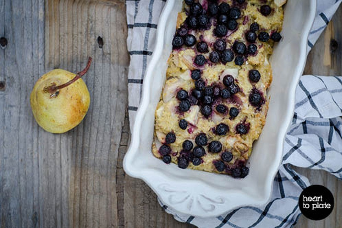 Seasonal Fruit and Nut Millet Bake [Vegan, Gluten-Free]