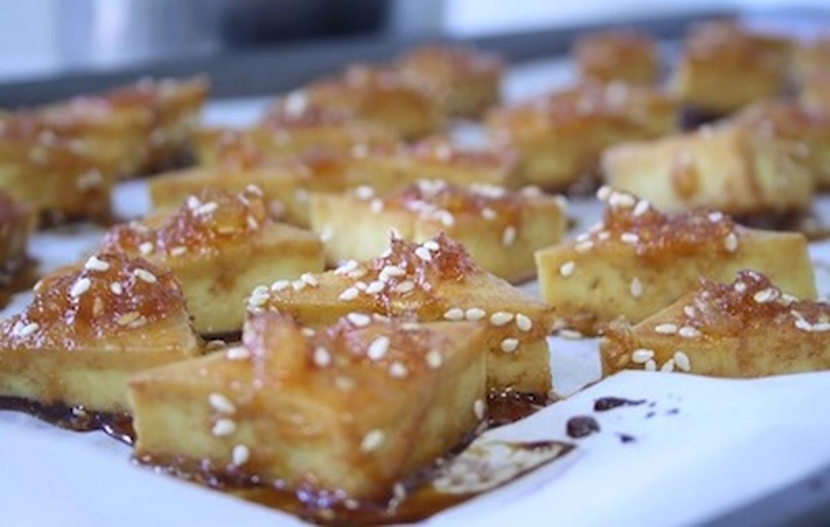 Sweet and Spicy Baked Pineapple Tofu [Vegan, Gluten-Free]