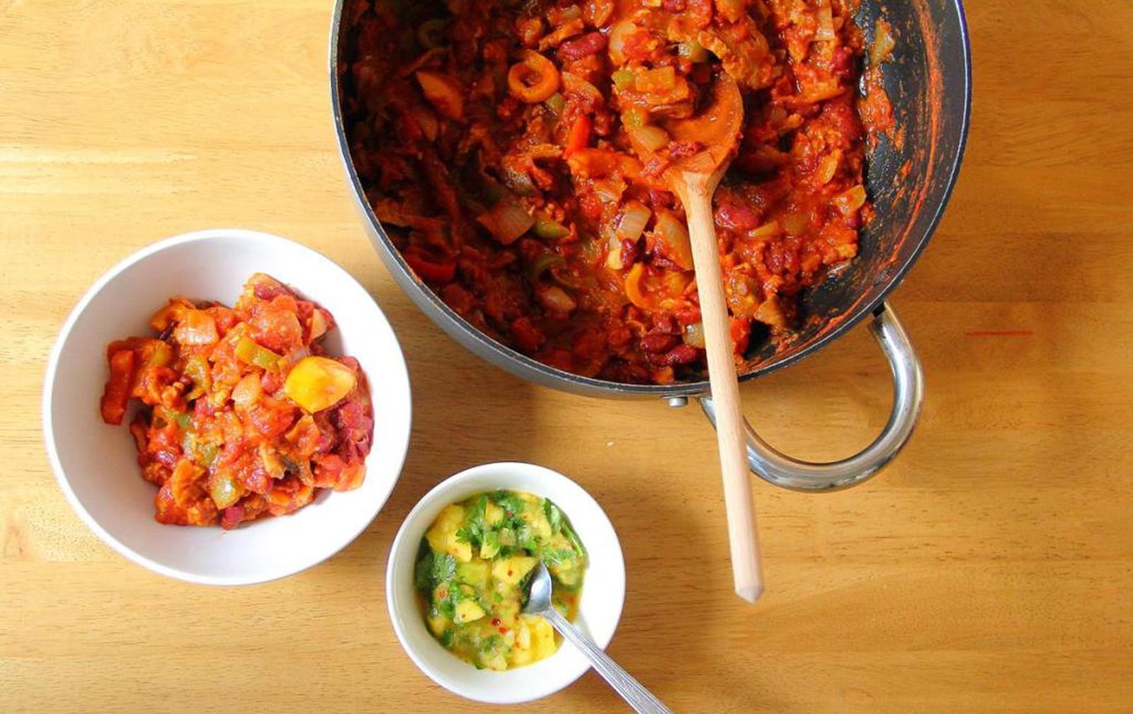 easy seitan chili