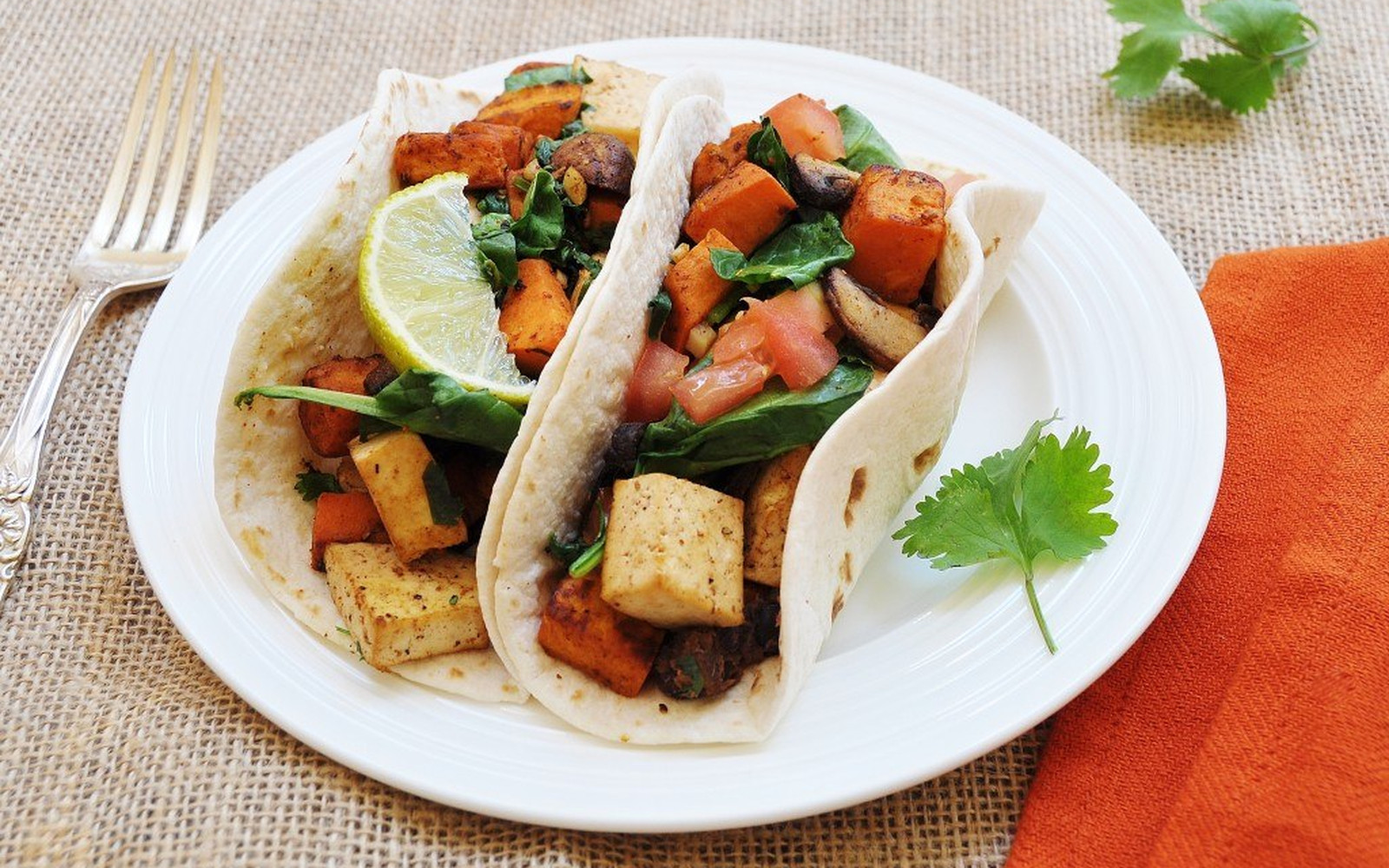 Sweet Potato and Tofu Breakfast Tacos With Spicy Black Beans [Vegan]