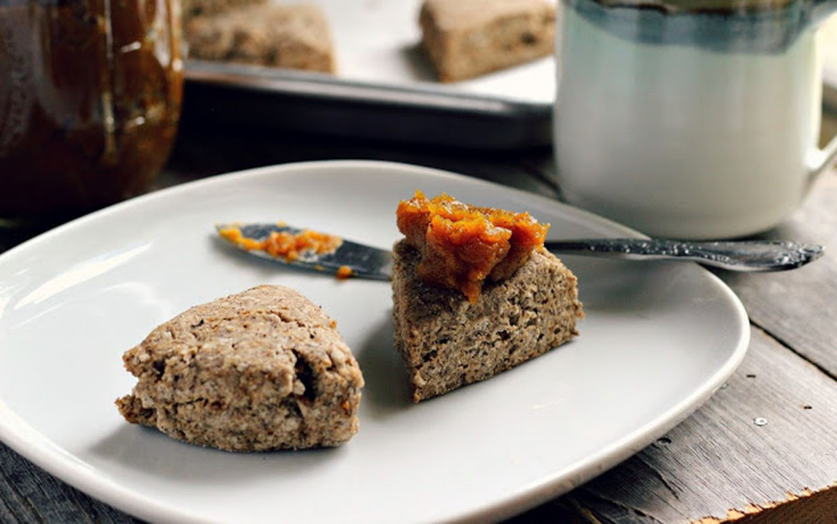 Buckwheat Scones With Spiced Butternut Squash Butter [Vegan, Gluten-Free]