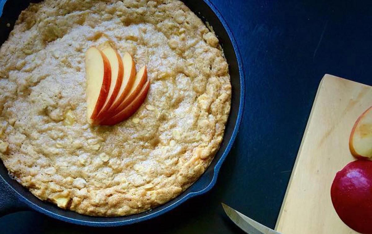 Caramel Apple Skillet Cookie [Vegan]