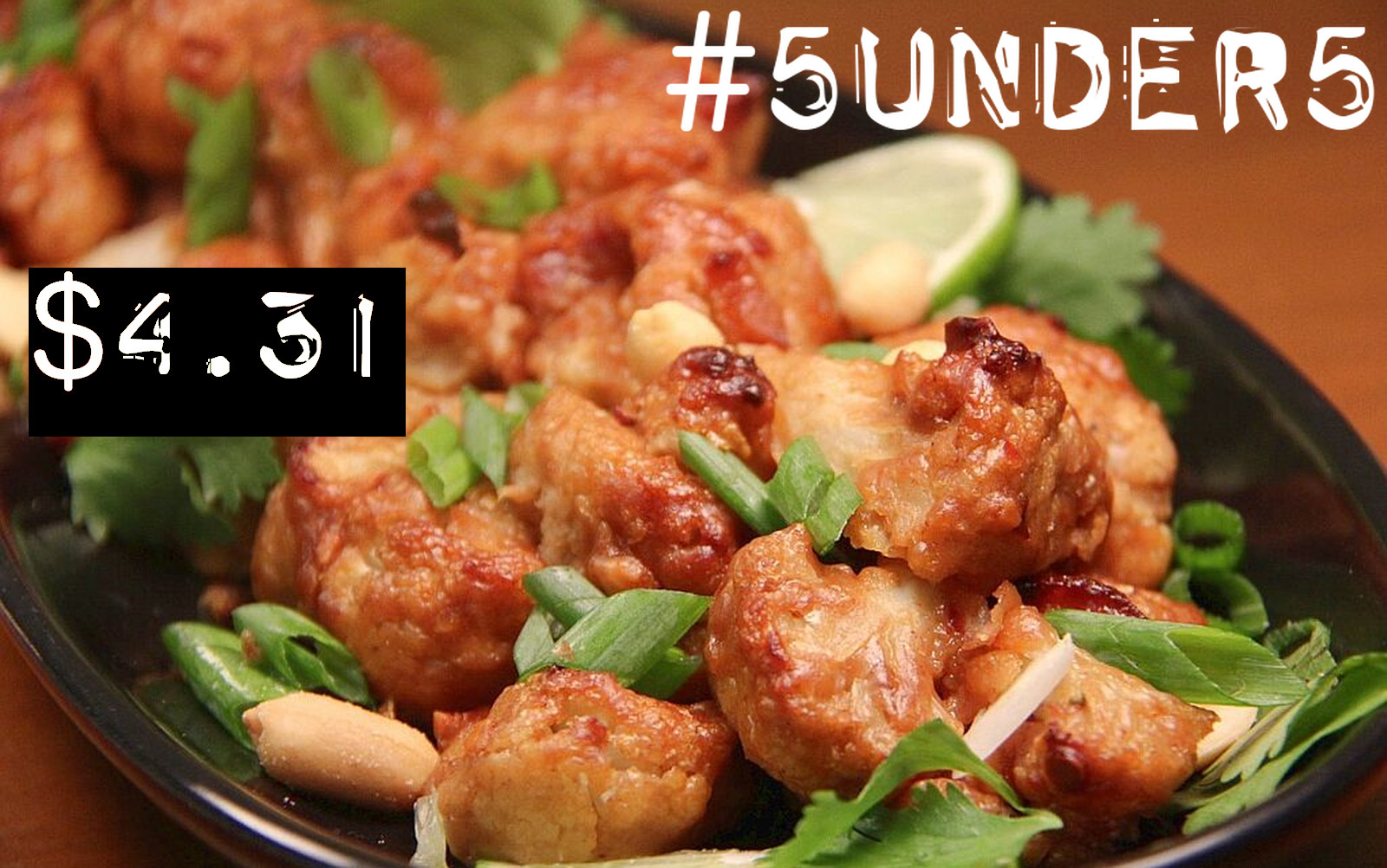 #5under5: Sticky Peanut Orange Cauliflower Wings [Vegan, Gluten-Free]
