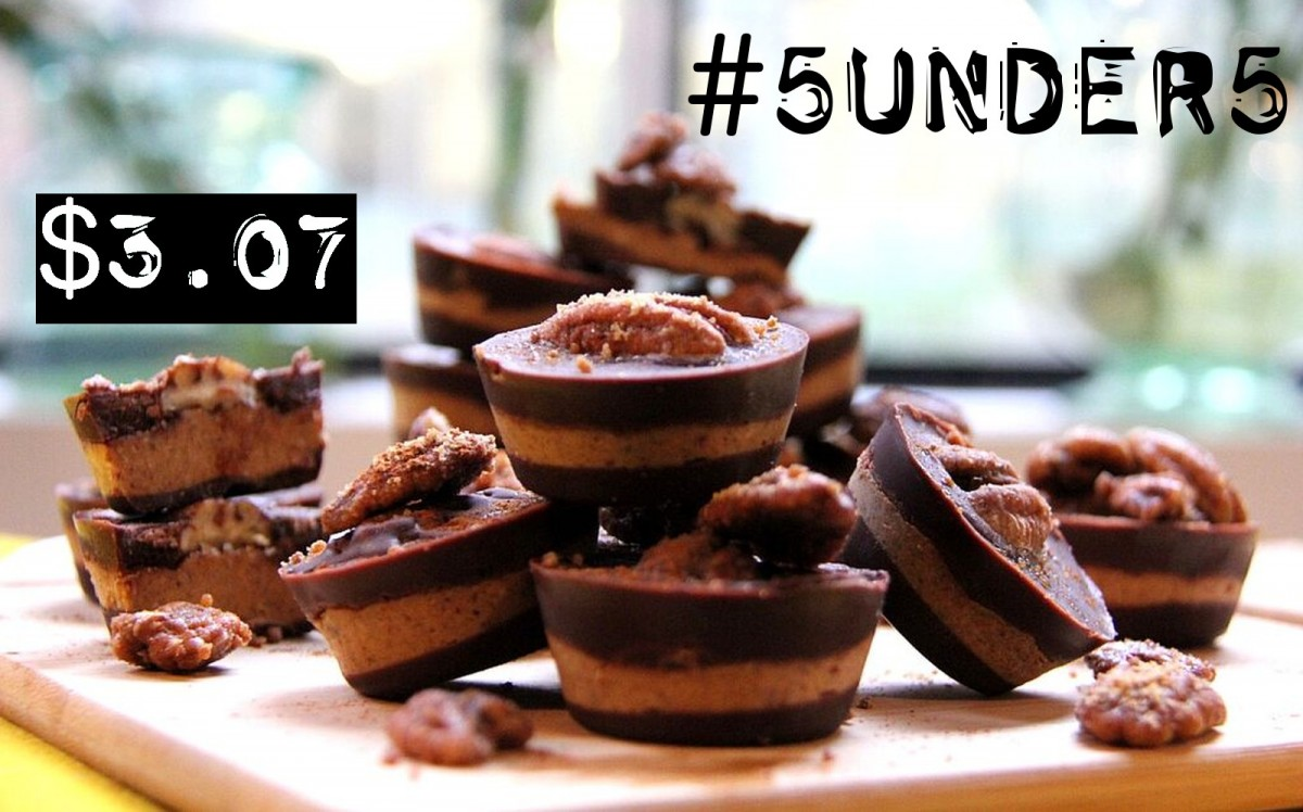 #5under5: Pecan Pumpkin Pie Cups [Vegan, Gluten-Free, No-Bake]