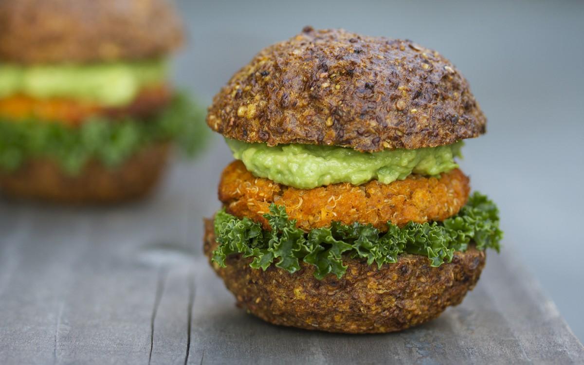 Simplest-Ever Sweet Potato and Quinoa Sliders [Vegan, Gluten-Free]