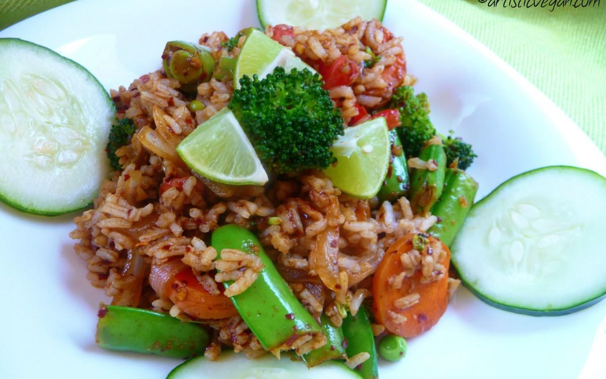 Kao Pad Thai Fried Rice [Vegan, Gluten-Free]