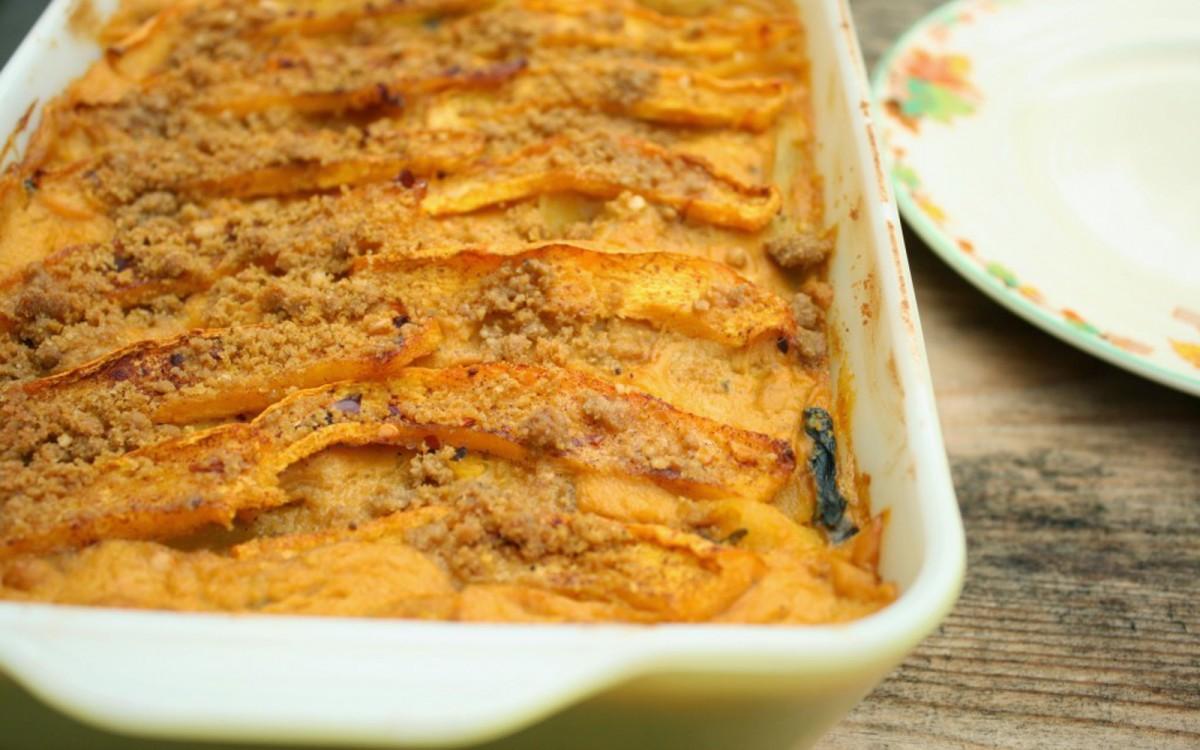 Creamy Pumpkin Lasagna