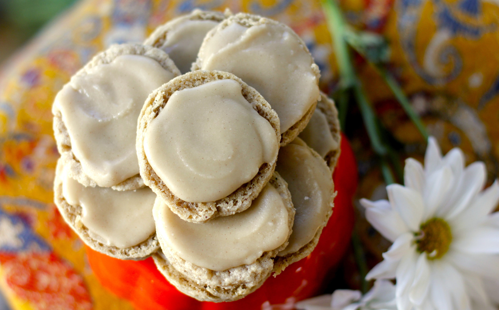 Spiced Sugar Cookies With Maple Icing [Vegan]