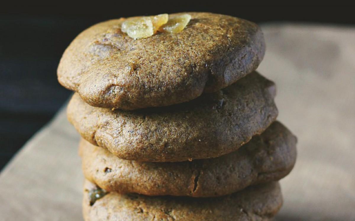 Triple Ginger Tahini Cookies