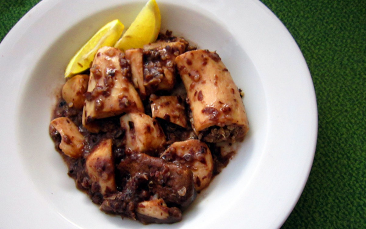 Adobong Pusit (Filipino Vegan 'Squid') [Gluten-Free]