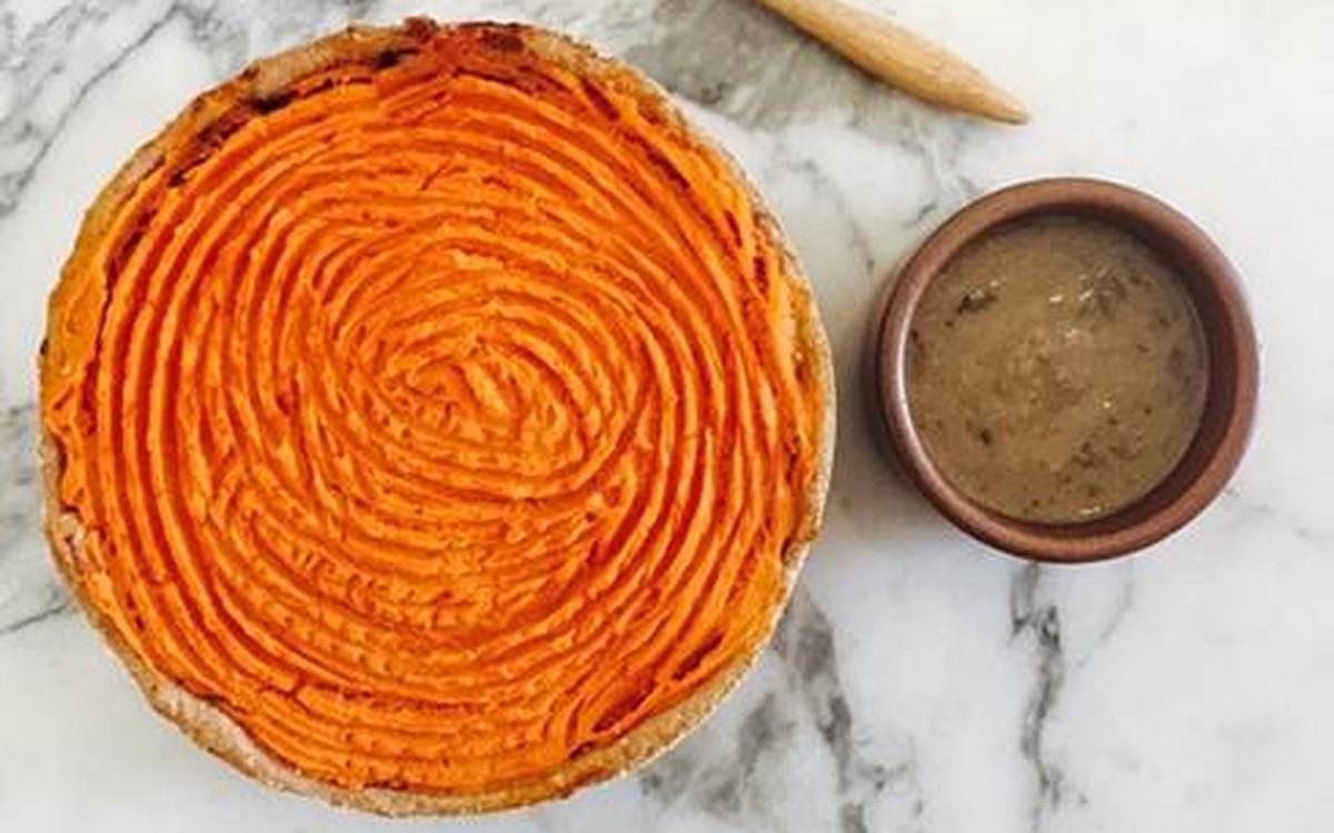 Thanksgiving Foragers Pie: Wild Mushrooms, Herb Gravy, and Sweet Potato Mash in a Flaky Spelt Crust [Vegan]