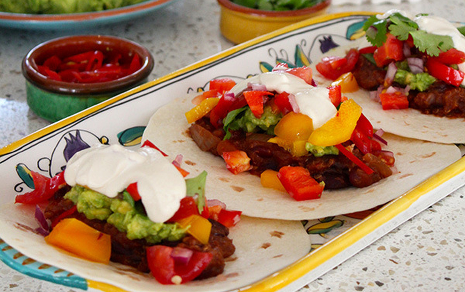 Slow-Cooker Mexican Tacos With Guacamole and Salsa [Vegan, Gluten-Free]