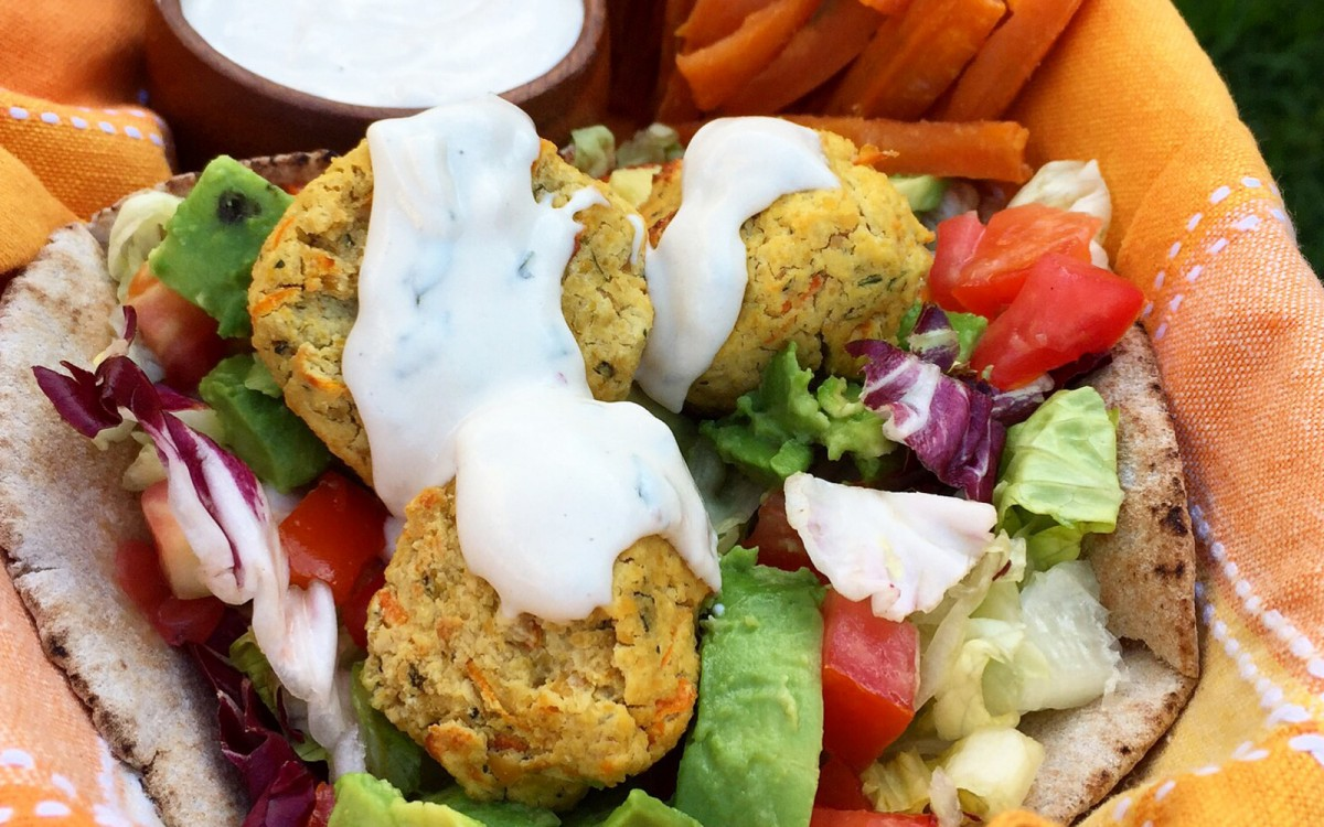 Baked Falafels With Tahini-Cashew Sauce