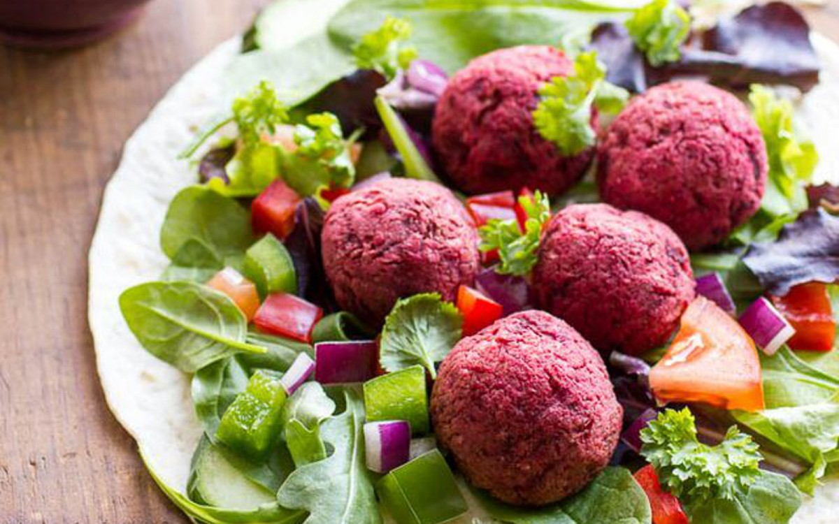 Beet and Chickpea Falafel