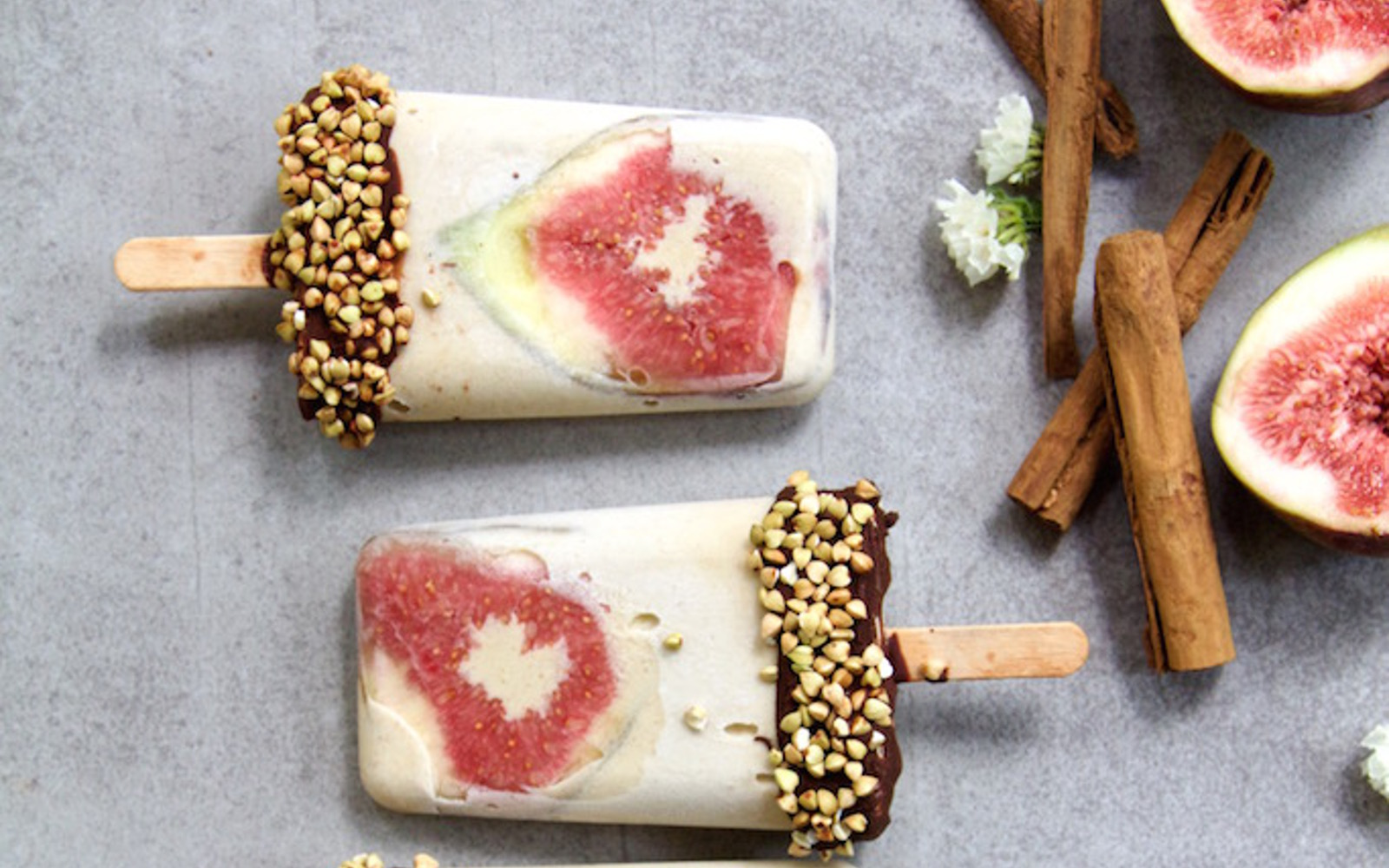 caramelized banana and fig ice cream bars
