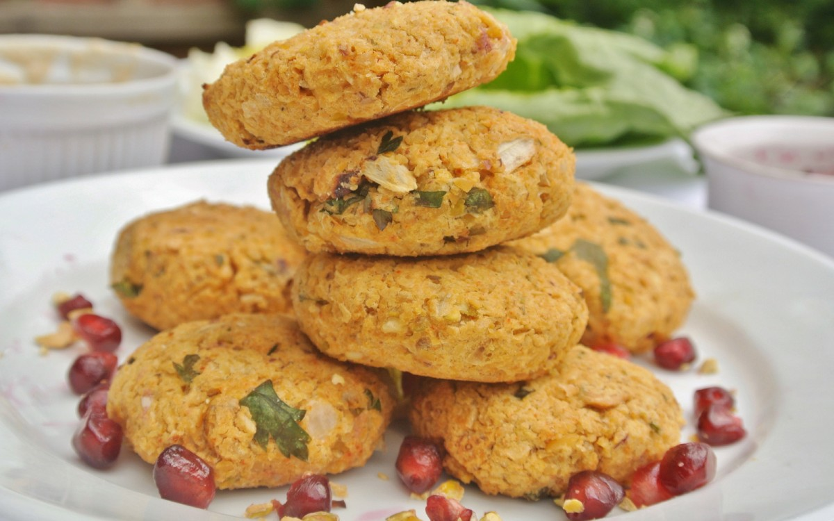 Chickpea and Pistachio Falafel