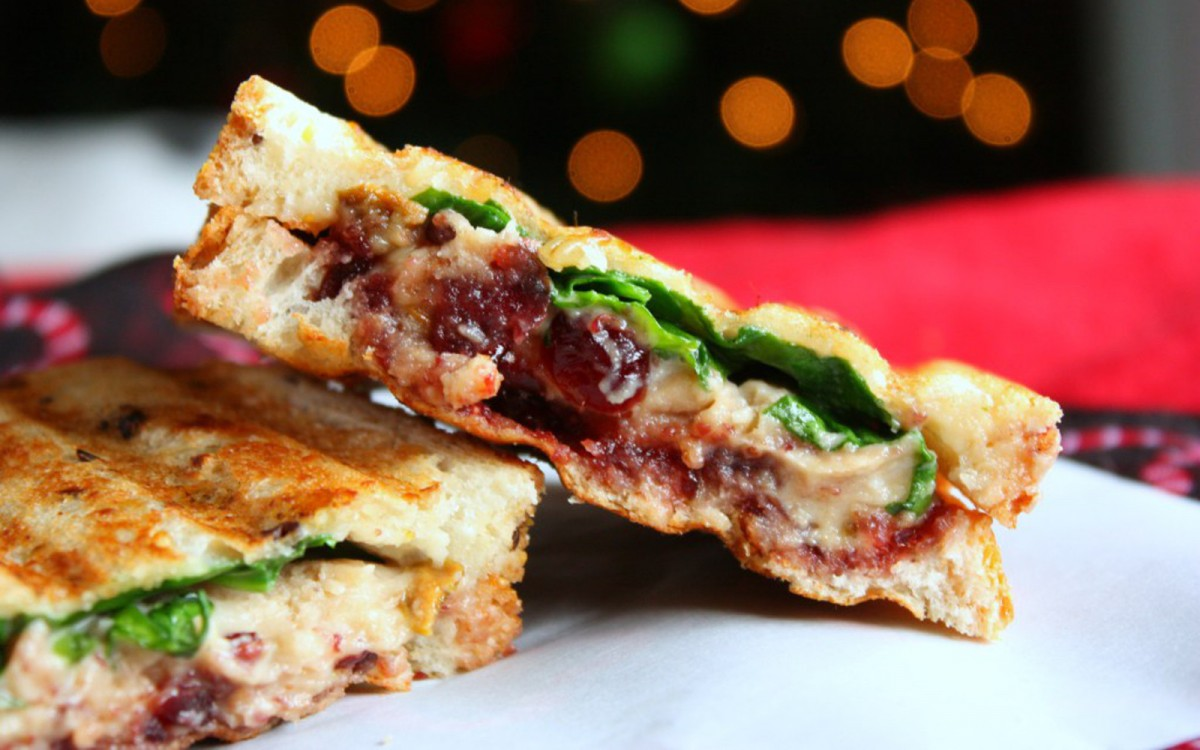 Coconut Pistachio Cashew Cheese Panini With Cranberry Jam