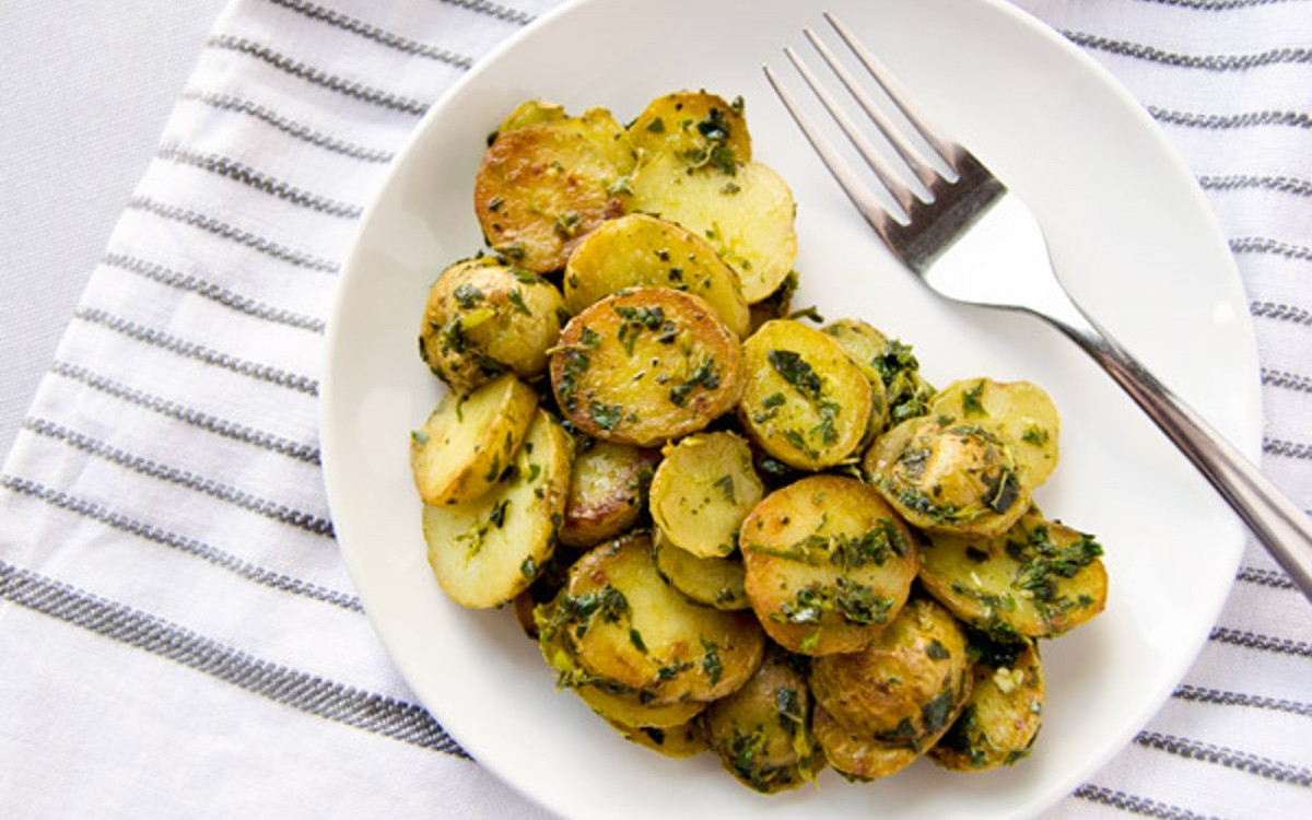 Mean Green Skillet Roasted Potatoes