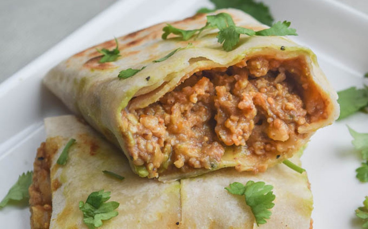 Roasted Butternut Squash, Millet, and Lentil Burritos