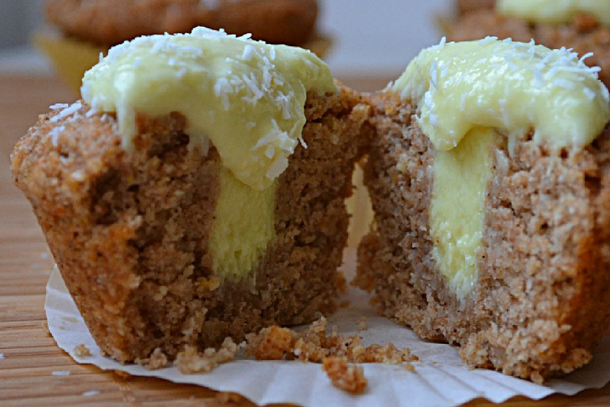 Lemon Coconut Curd and Cupcakes