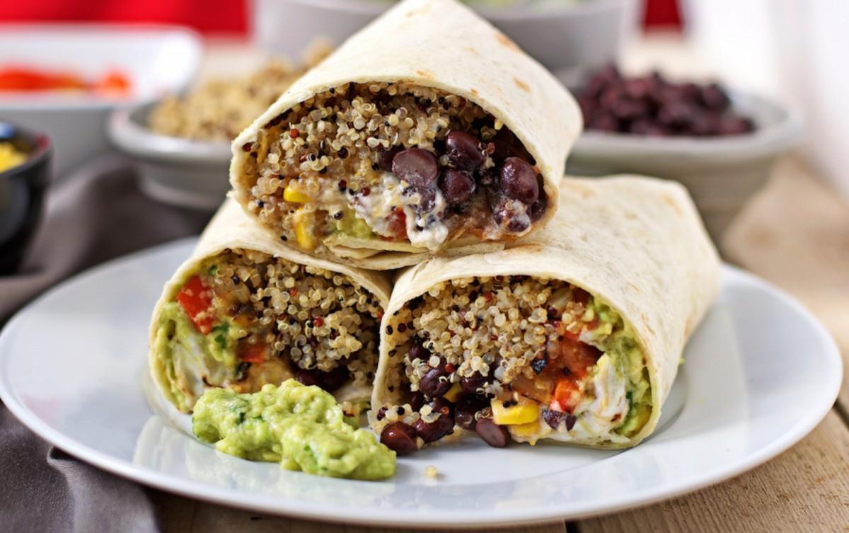 mexican quinoa wrap